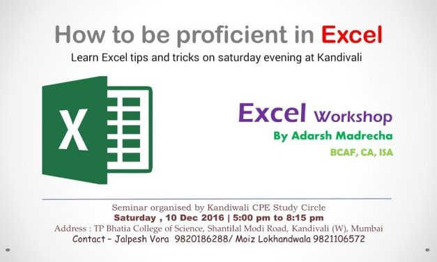 Seminar on Excel by Kandivali CPE Study Circle