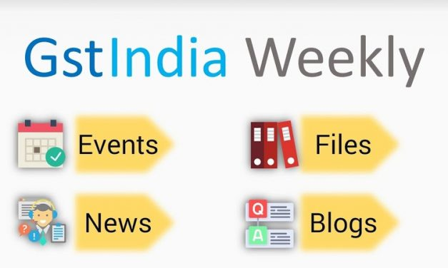 Launch of GST Weekly Newsletter