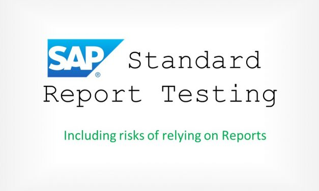 Testing Standard Reports in SAP