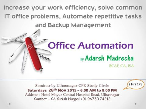 Office Automation – Ulhasnagar – 28 Dec 2015
