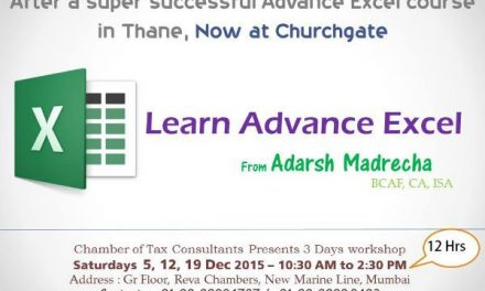 Advance excel – CTC – Dec 2015