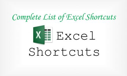 Complete List of MS Excel Shortcut Key
