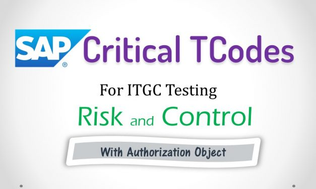 Critical Tcode in SAP for ITGC and Sox Audit | Adarsh Madrecha